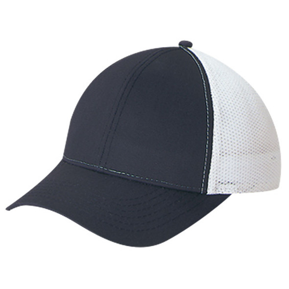 Black/White  - 5C392M Polycotton / Polyester Mesh | Hats&Caps.ca