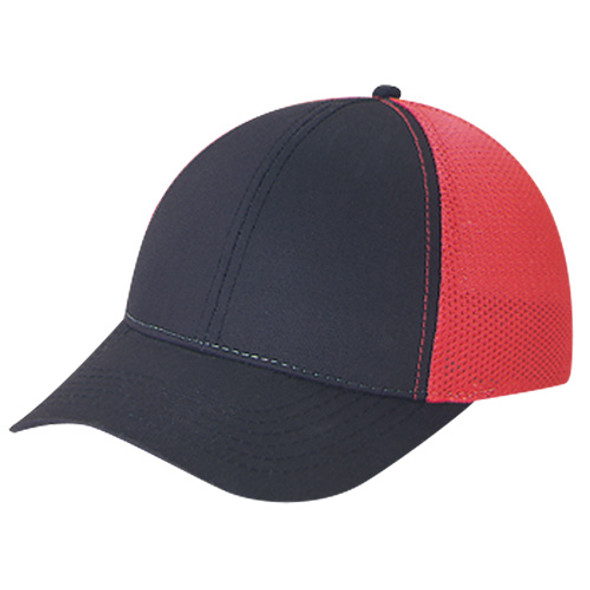 Black/Red - 5C392M Polycotton / Polyester Mesh | Hats&Caps.ca