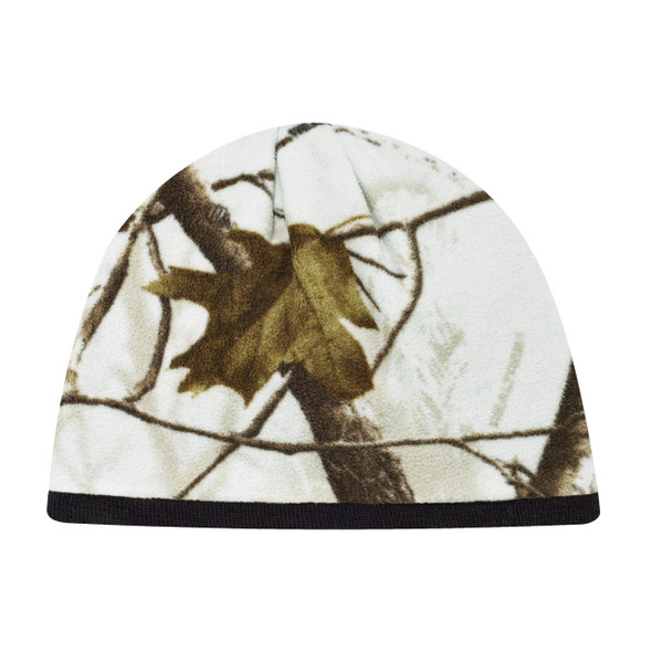 Realtree AP Snow®/Black - 6Q038M Printed Poly Micro Fleece Toque | Hats&Caps.ca