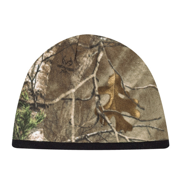 Realtree Xtra®/Black - 6Q038M Printed Poly Micro Fleece Toque | Hats&Caps.ca