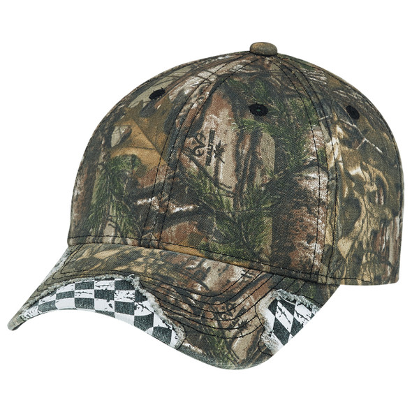 Realtree Xtra®/Racing - Enzyme Washed Deluxe Chino Twill / Brushed Polycotton | HatsandCaps.ca