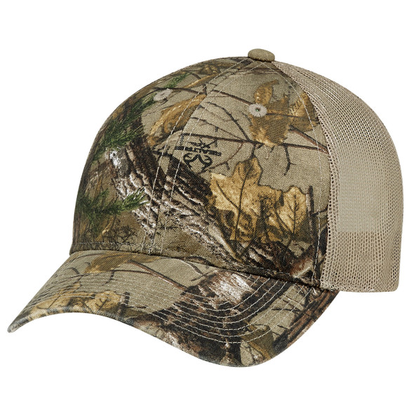 Realtree XTRA® Cap Realtree/Tan - 6Y837M Enzyme Washed Brushed Polycotton / Soft Nylon Mesh  | HatsandCaps.ca