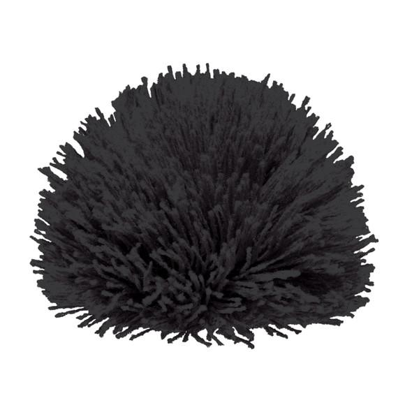 Black - POMACR8 Acrylic Pom Pom (8cm) | Hats&Caps.ca
