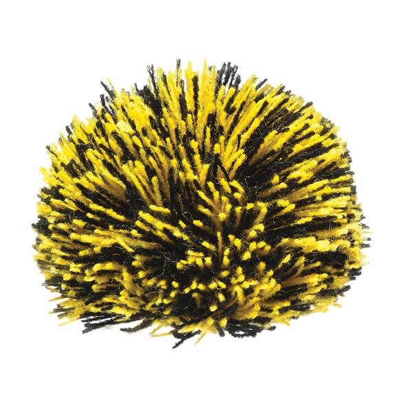Black/Gold - POMACR8 Acrylic Pom Pom (8cm) | Hats&Caps.ca