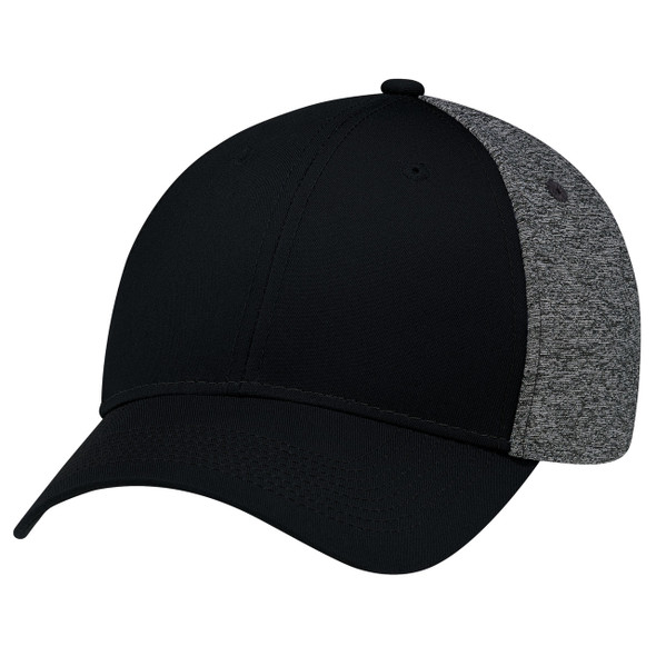 Black/Black - 5K867M 6 Panel Constructed Full-Fit Cap | Hast&Caps.ca