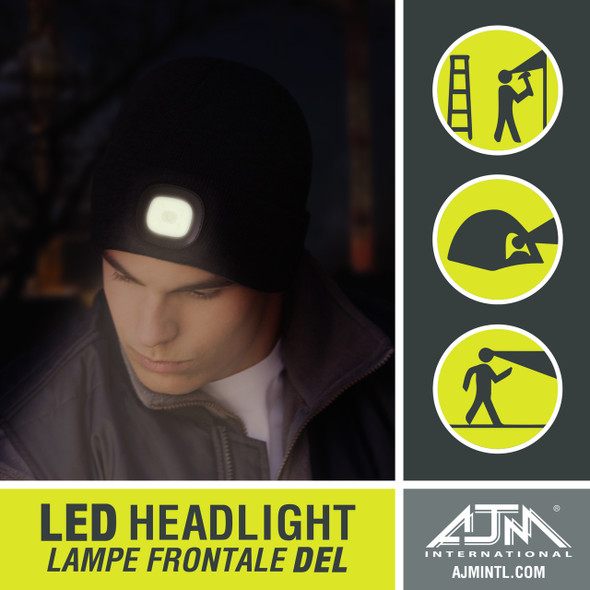 9X539M Acrylic Cuff Toque with LED Light | Hats&Caps.ca