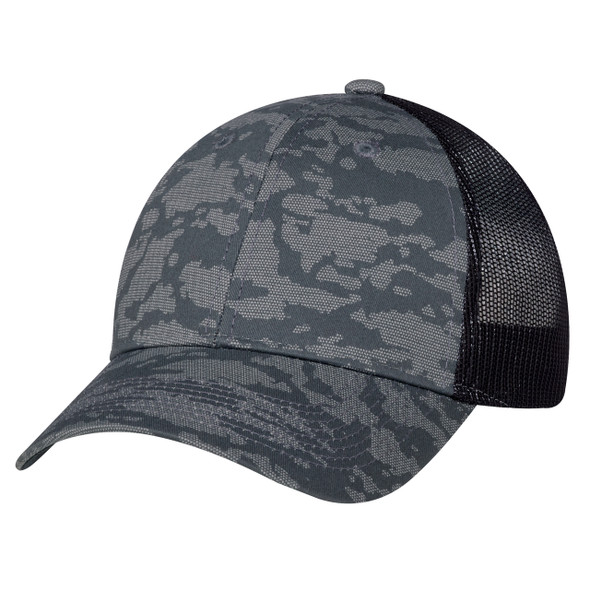Charcoal/Washed Black - 3H647M 6 Panel Constructed Full-Fit (Urban Camo, Mesh Back) | Hats&Caps.ca