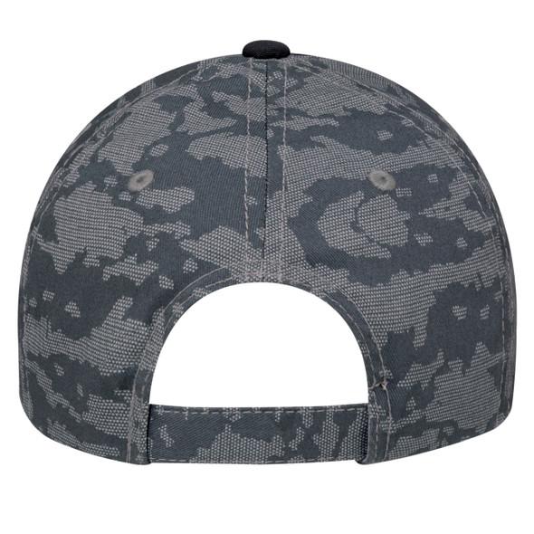 Black/Charcoal, Back - 3K867M 6 Panel Constructed Full-Fit (Urban Camo) | Hats&Caps.ca
