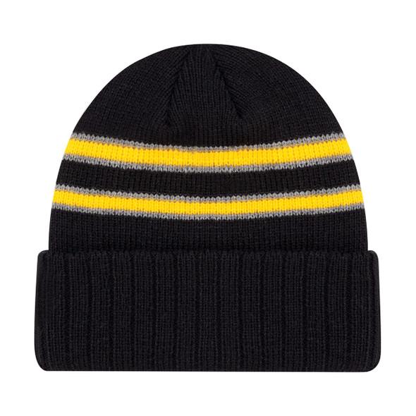 Black/Gold/Slate - 9W198M Acrylic Cuff Toque   Hats&Caps.ca