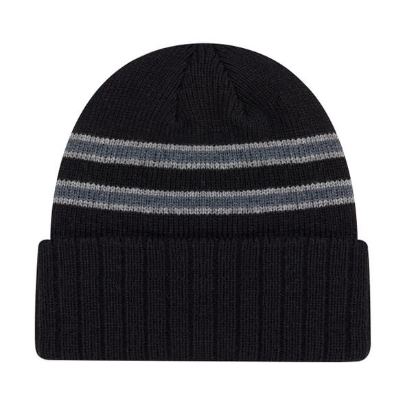 Black/Charcoal/Slate - 9W198M Acrylic Cuff Toque | Hats&Caps.ca