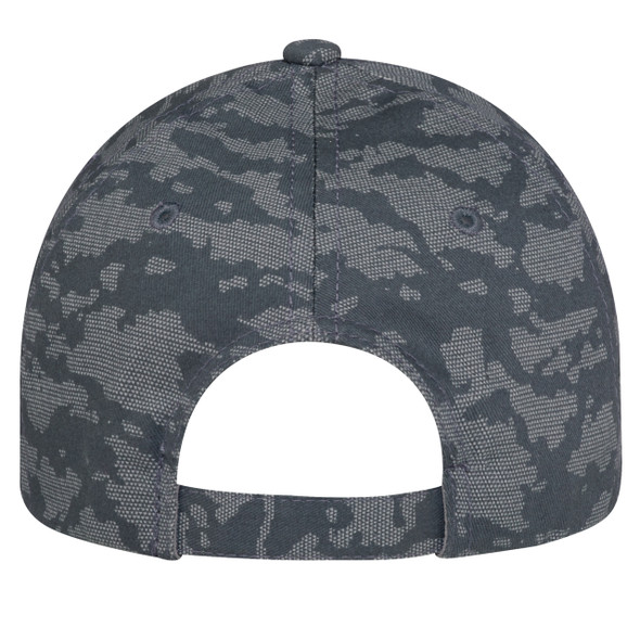 Charcoal, Back - 3J630M 6 Panel Constructed Full-Fit (Urban Camo) | Hats&Caps.ca