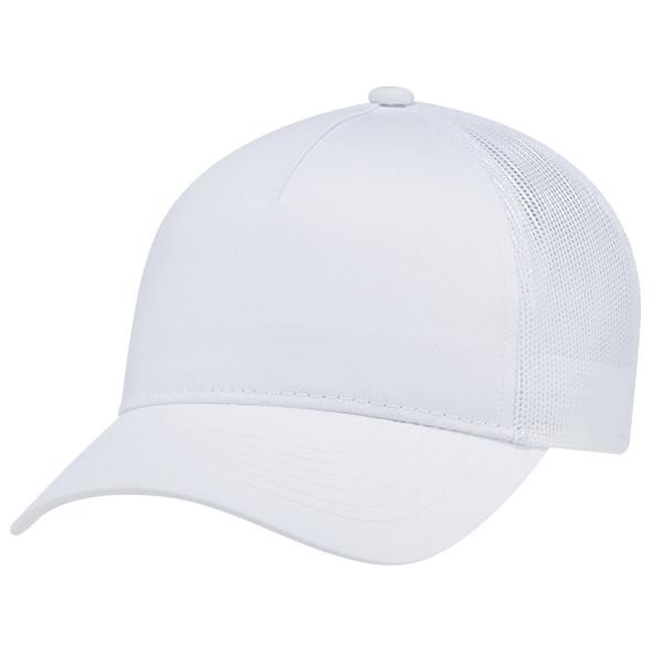 White - 5970L Women's Polycotton / Nylon Mesh Cap | Hats&Caps.ca