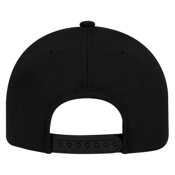 Black, Back - 5910M 5 Panel Constructed Full-Fit-Five Cap | Hats&Caps.ca