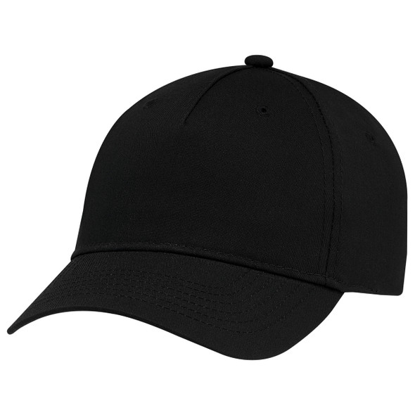 Black - 5910M 5 Panel Constructed Full-Fit-Five Cap | Hats&Caps.ca