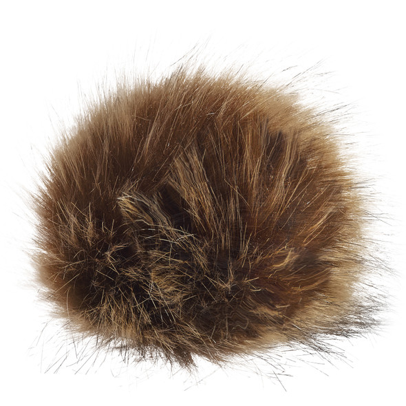 Beige - POMFUR12 Polyester Faux Fur Pom Pom | Hats&Caps.ca