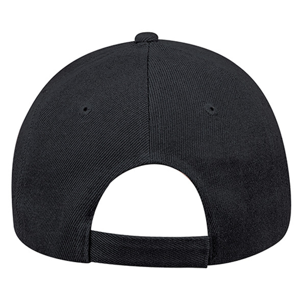 Black - Back, 0A630M 6 Panel Constructed Full-Fit Hat | Hats&Caps.ca