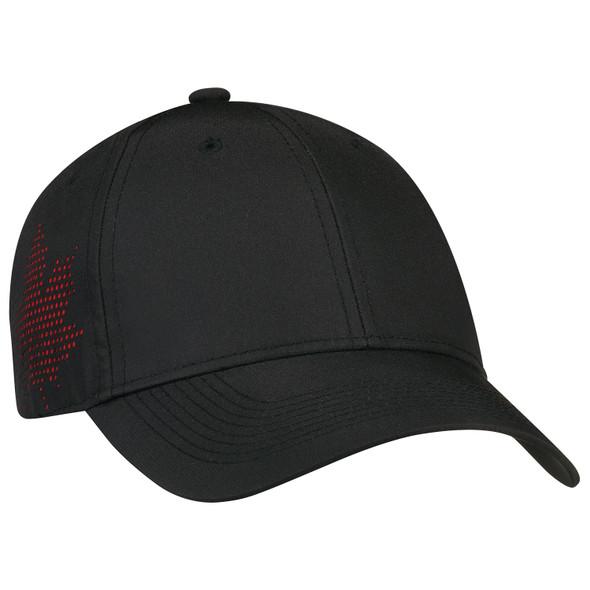 Black - 1B639M Polyester Rip Stop Cap | Hatsandcaps.ca