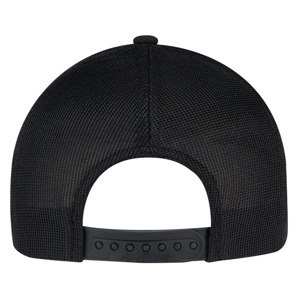 Black  - Back, 2H690M Polyester Diamond Sport Mesh Cap | Hatsandcaps.ca