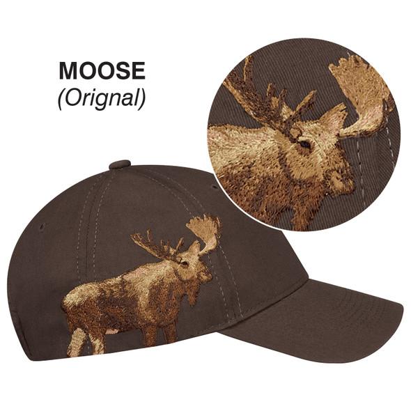 Moose - 5849M 6 Panel Constructed Full-Fit (Wildlife) Cap | Hats&Caps.ca
