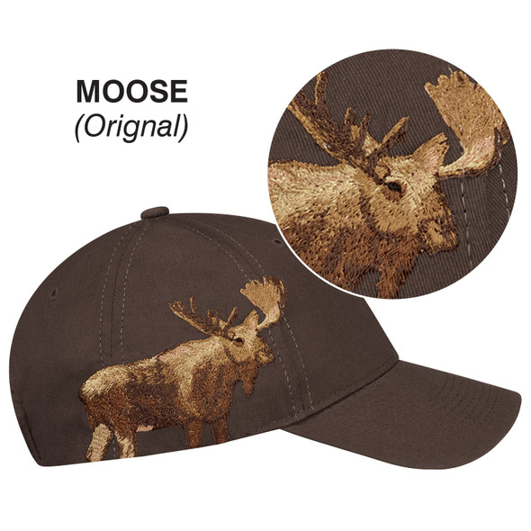 Moose - 5849M 6 Panel Constructed Full-Fit (Wildlife) Cap | Hats&Caps.ca