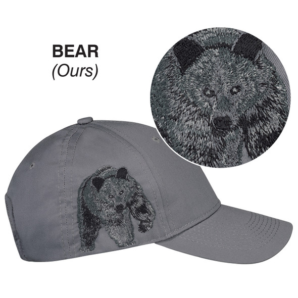 Bear - 5849M 6 Panel Constructed Full-Fit (Wildlife) Cap | Hats&Caps.ca