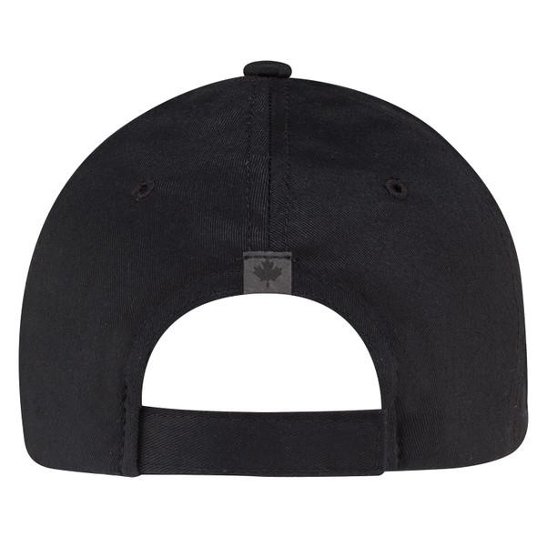 Black - Back, 6639M 6 Panel Constructed Full-Fit (Canada) Cap | Hats&Caps.ca