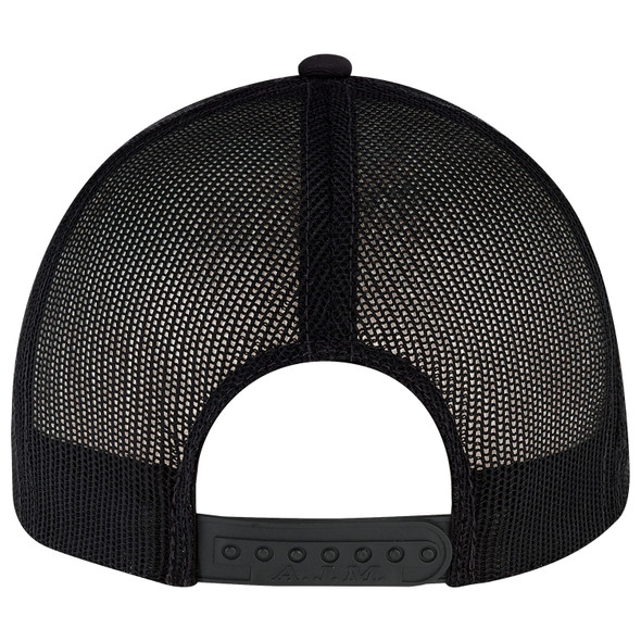 Black - Back - 8E019B6 Panel Constructed Pro-Round (Mesh Back, Youth) Cap