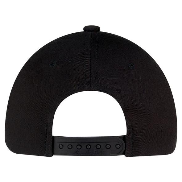Black - Back, 8F010M 6 Panel Constructed Pro-Round Cap | Hats&Caps.ca