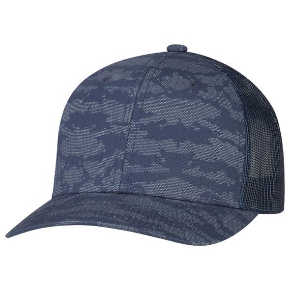 Navy/Navy - 8G017M Cotton Drill/Nylon Mesh Cap | Hats&Caps.ca