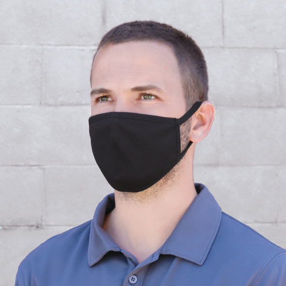 Black - MK0001 Face Mask | HatsandCaps.ca