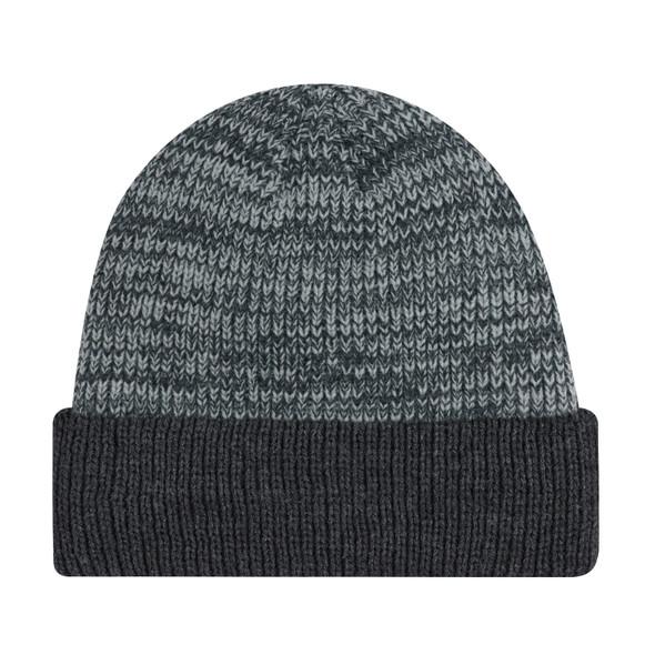 Charcoal/Grey - 9D237M Acrylic Cuff Toque | Hats&Caps.ca