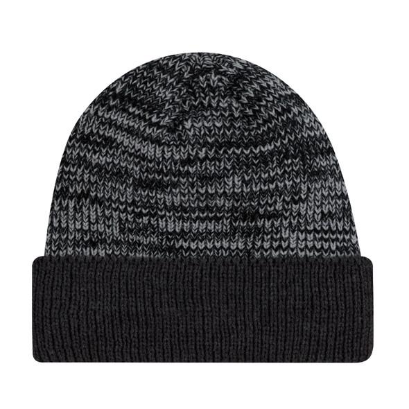 Black/Grey - 9D237M Acrylic Cuff Toque | Hats&Caps.ca