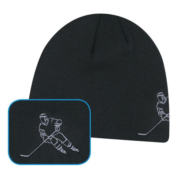 Black Hockey - 0160M Acrylic Hockey Board Toque | Hats&Caps.ca