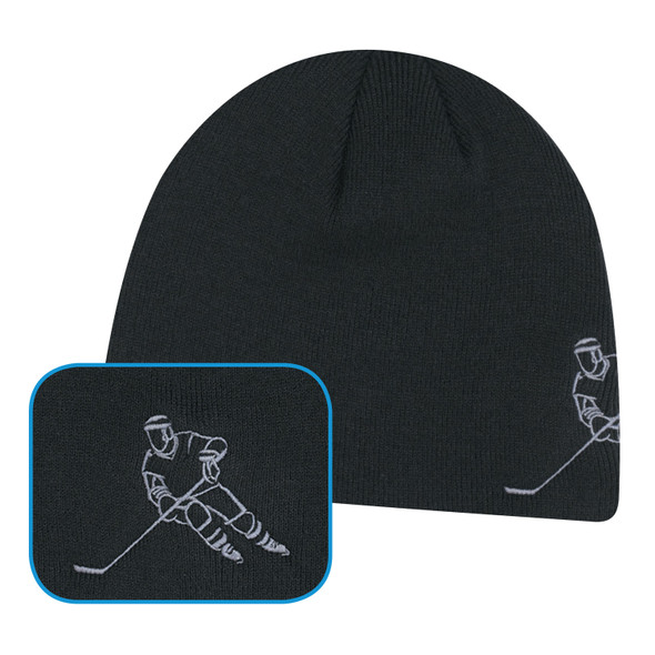 Black Hockey - 0160M Acrylic Hockey Board Toque | Hats&Caps.ca