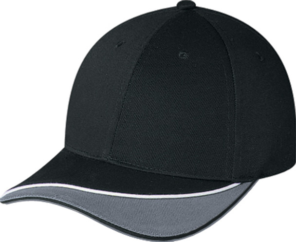 Black/Charcoal - 6J469M Two Tone Chino Twill Cap | Hats&Caps.ca