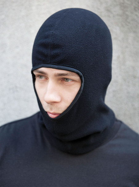 Black - 6V600 Polyester Micro Fleece Fitted Balaclava | Hats&Caps.ca