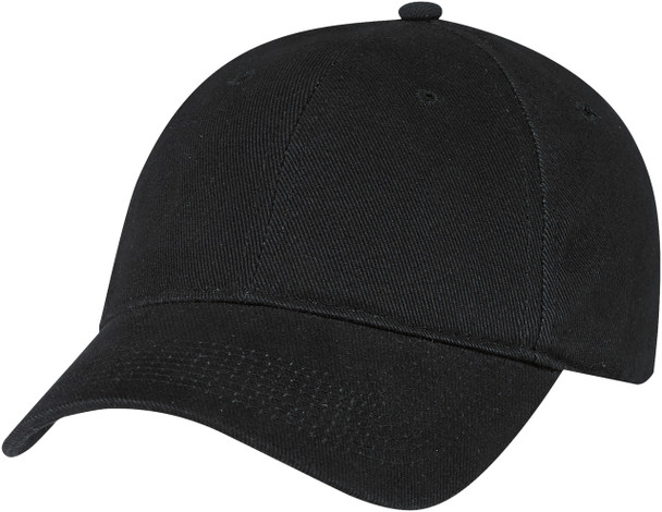 Black Heavyweight Cotton Constructed Full-Fit Cap
