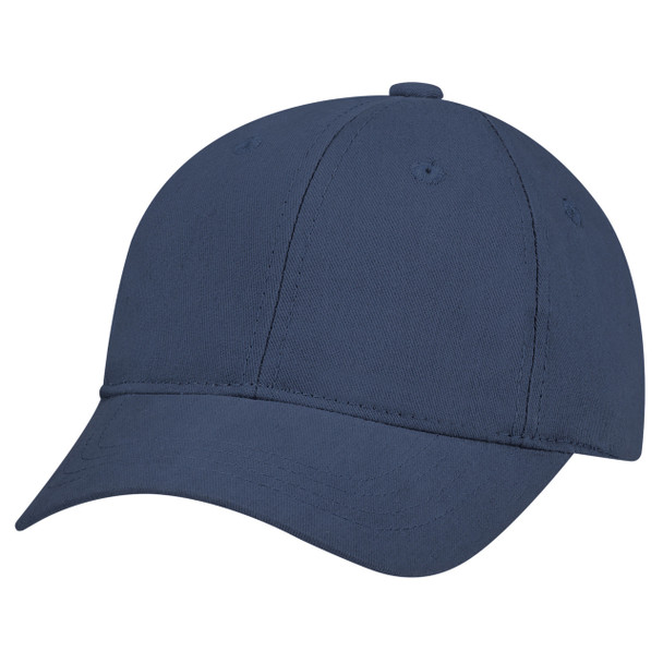 Navy - 5D390B Brushed Cotton Drill Youth Cap | Has&Caps.ca