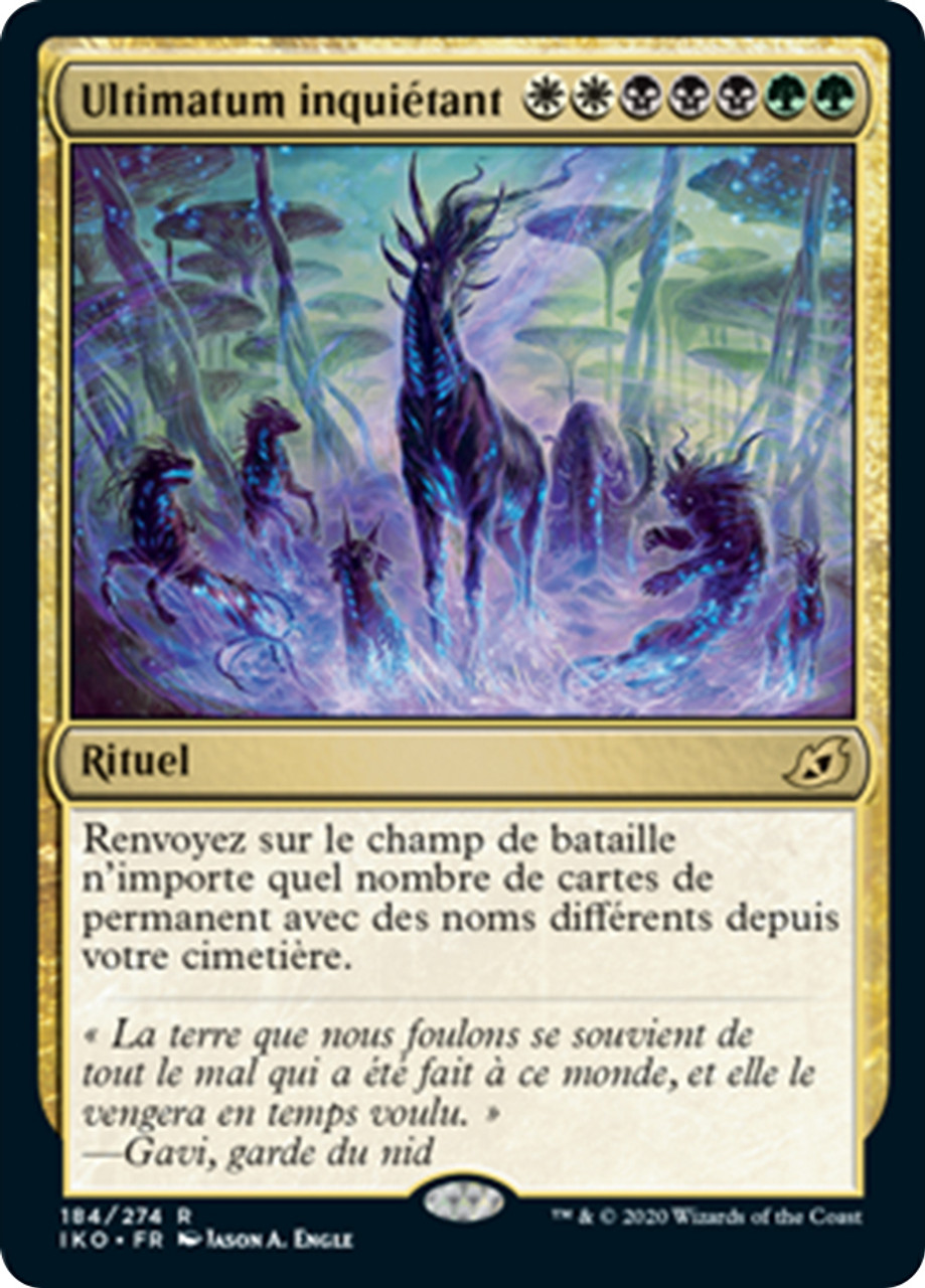 MTG Magic Ultimatum inquietant Eerie Ultimatum  French Mint Ikoria