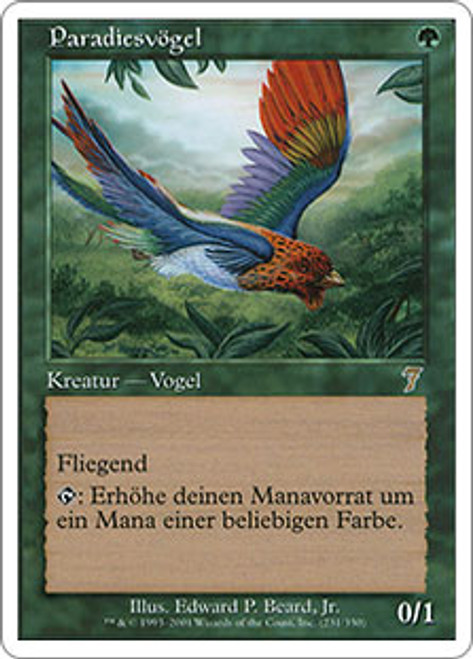 Magic the Gathering Birds of Paradise 7th Edition NM Green Rare