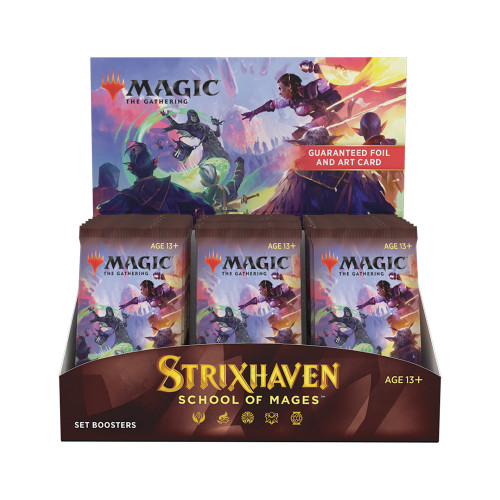 Strixhaven Set Booster Box / Available at PRERELEASE April 16. Includes Buy a Box Promo. TAX INCLUDED in Price.