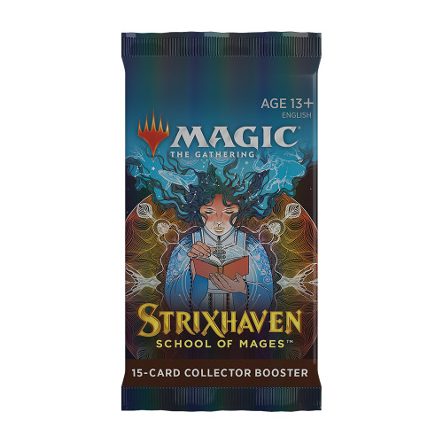 Strixhaven: School of Mages Collector Booster Pack.  Available  April 23. TAX INCLUDED in Price.