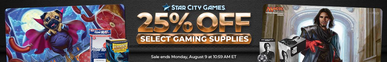 25% Off Select Gaming Supplies Through Monday!