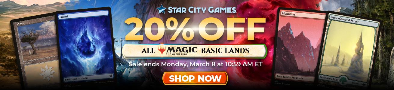 20% Off All Basic Lands Through Monday!