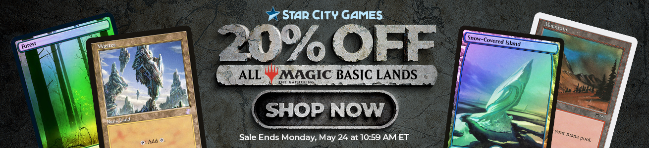 Save 20% On All MTG Basic Lands Through Monday!