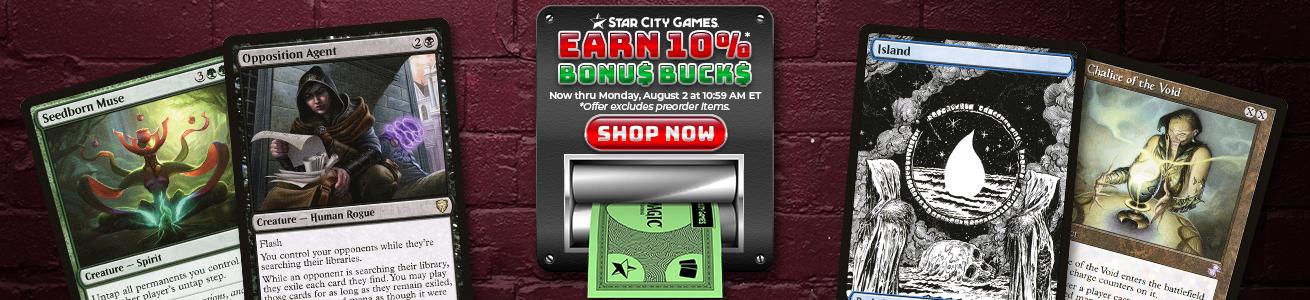 Earn 10% Bonus Bucks Through Monday!