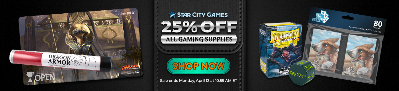 Save 25% On All Gaming Supplies Through Monday!