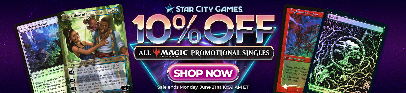 Save 10% On All MTG Promotional Cards!