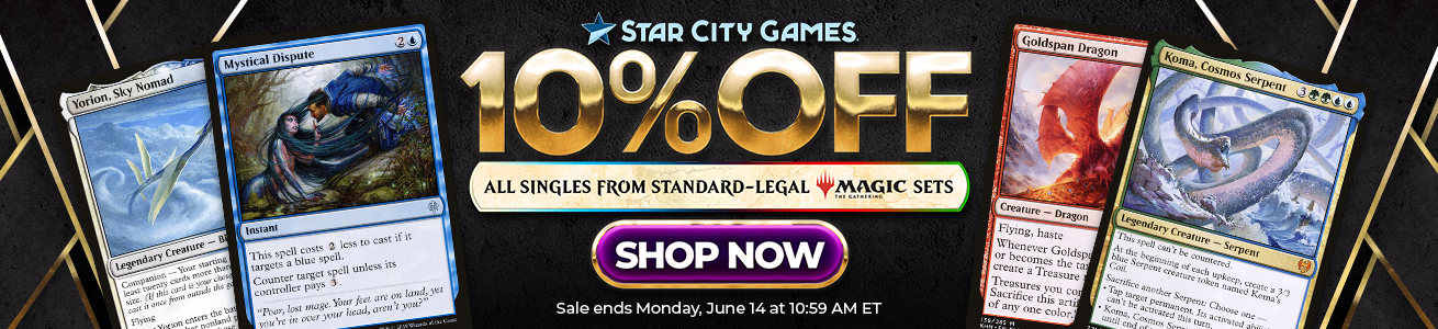 10% Off All Singles from Standard-Legal Magic Sets