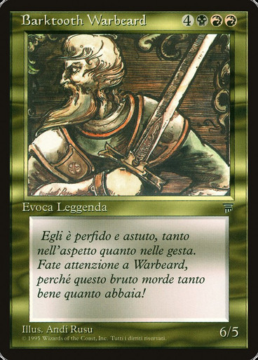 Barktooth Warbeard Legends NM Uncommon MAGIC THE GATHERING MTG CARD ABUGames